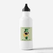 Funny St. Patricks Irish Pug Water Bottle