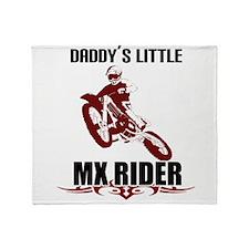 daddysMXrider.png Throw Blanket