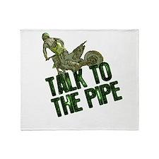 Talktothepipe copy.png Throw Blanket