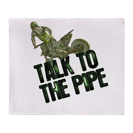 Talktothepipe copy.png Throw Blanket