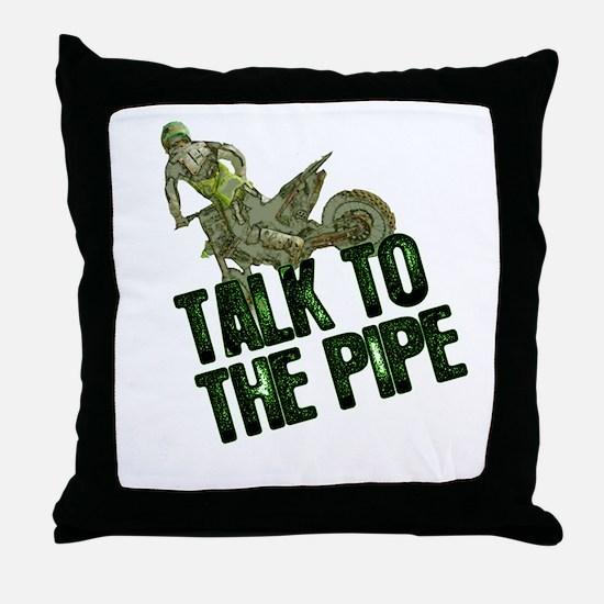 Talktothepipe copy.png Throw Pillow