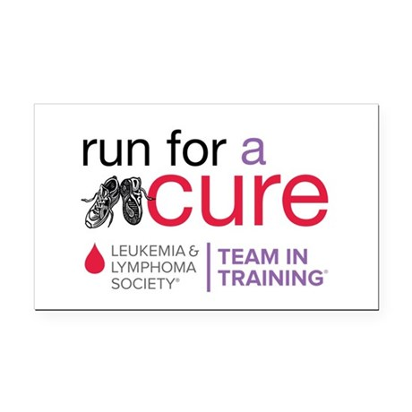 Run for a Cure Rectangle Car Magnet