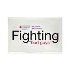Fighting bad guys Rectangle Magnet
