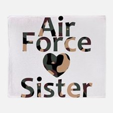 AF Sister Camo Heart Throw Blanket