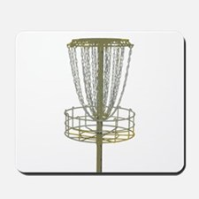 Disc Golf Basket Frisbee Frolf Mousepad