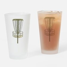 Disc Golf Basket Frisbee Frolf Drinking Glass