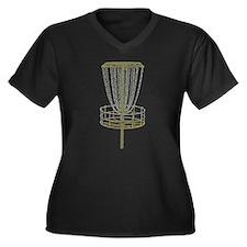 Disc Golf Basket Frisbee Frolf Plus Size T-Shirt