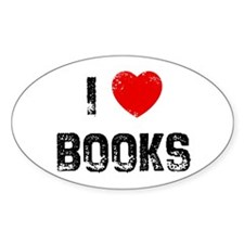 I * Books Oval Decal