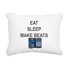 eatsleepmakebeats.png Rectangular Canvas Pillow