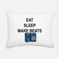 eatsleepmakebeats.png Rectangular Canvas Pillow