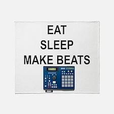 eatsleepmakebeats.png Throw Blanket