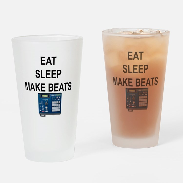 eatsleepmakebeats.png Drinking Glass