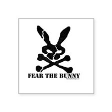 Fear the Bunny. Rectangle Sticker