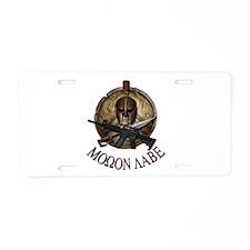 Molon Labe Rnd Aluminum License Plate