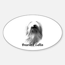 Bearded Charcoal Oval Decal