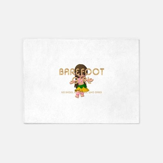 Barefoot Girl 5'x7'Area Rug