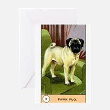 Antique 1908 Pug Dog Cigarette Card Greeting Card