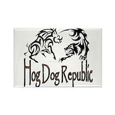 Hog Dog Republic CafePress Logo Rectangle Magnet