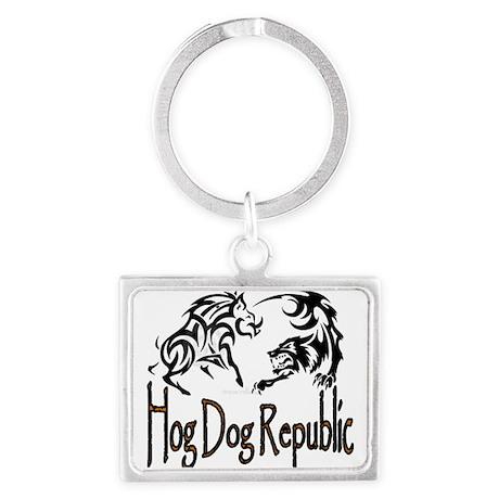Hog Dog Republic Logo Landscape Keychain