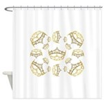 17 queen of hearts crowns Shower Curtain