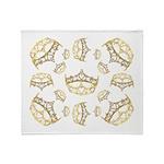 17 queen of hearts crowns Throw Blanket