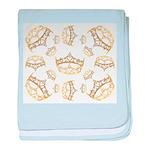 17 queen of hearts crowns baby blanket