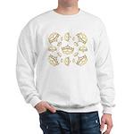 17 queen of hearts crowns Sweatshirt