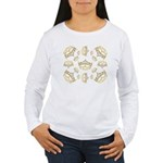 17 queen of hearts crowns Long Sleeve T-Shirt