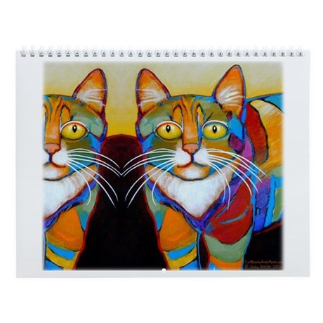 12 Colorful CATS Calendar