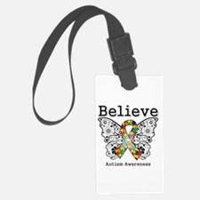 Believe Butterfly Autism Luggage Tag