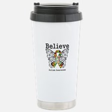 Believe Butterfly Autism Travel Mug