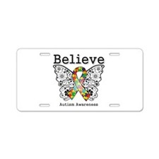 Believe Butterfly Autism Aluminum License Plate