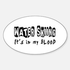 Water Skiing Designs Sticker (Oval)