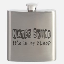 Water Skiing Designs Flask