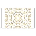 68 queen of hearts crowns Sticker