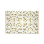 68 queen of hearts crowns Rectangle Magnet (100 pa