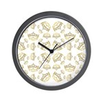 68 queen of hearts crowns Wall Clock
