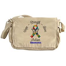 Hope Strength Love Autism Messenger Bag