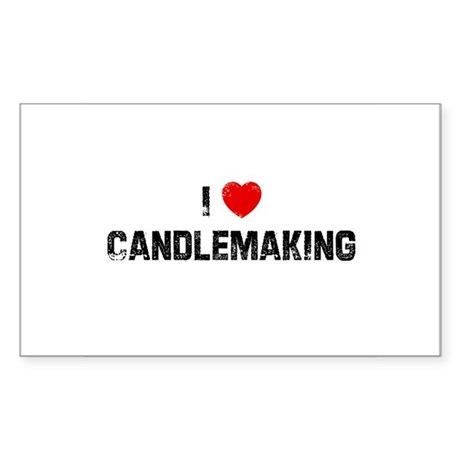 I * Candlemaking Rectangle Sticker