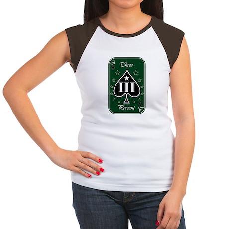 Three Percent Ace Women's Cap Sleeve T-Shirt
