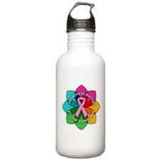 Breast Cancer Awareness Petals Water Bottle