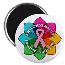 Breast Cancer Awareness Petals Magnet