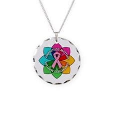 Breast Cancer Awareness Petals Necklace