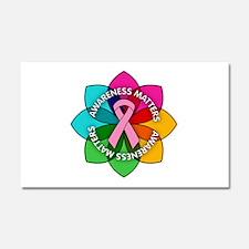 Breast Cancer Awareness Petals Car Magnet 20 x 12