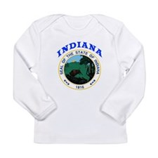 Indiana State Seal Long Sleeve Infant T-Shirt