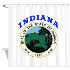 Indiana State Seal Shower Curtain