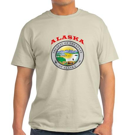 Alaska State Seal Light T-Shirt