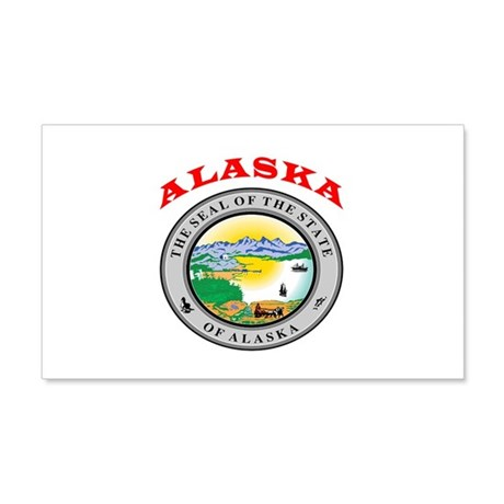 Alaska State Seal 20x12 Wall Decal