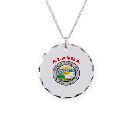 Alaska State Seal Necklace Circle Charm