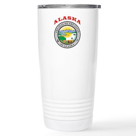 Alaska State Seal Stainless Steel Travel Mug